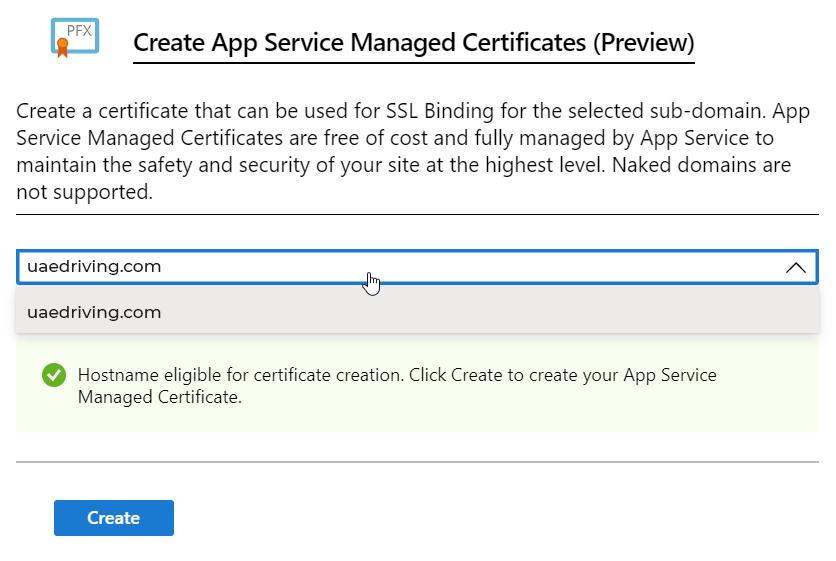 Create App Service Managed Certificate