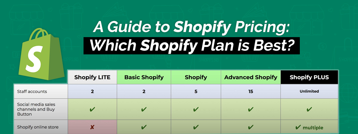 A Guide To Shopify Pricing Which Shopify Plan Is Best